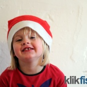 Nissepige til julekort