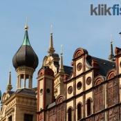 Gyldne spir på Schloss Schwerin