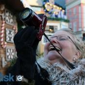 Julemarkedet i Rostock bliver foreviget